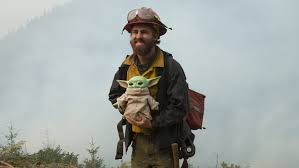 Toy Baby Yoda and Wildfires